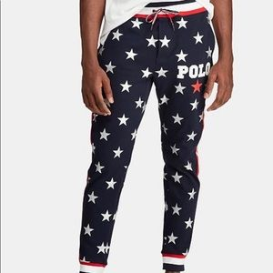 🇺🇸Polo Star Print Interlock Americana Pants NWT!